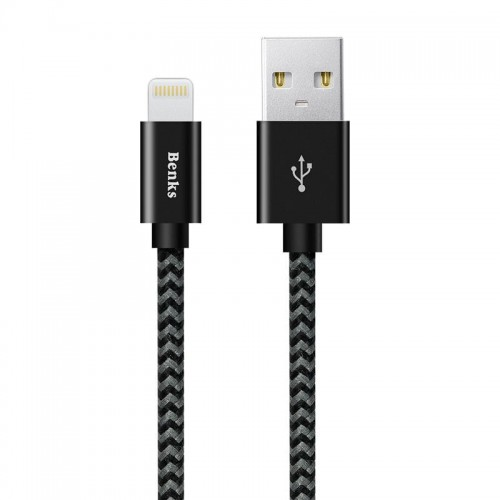 Benks Amber MFI Ligtening Cable 180cm [czarny]