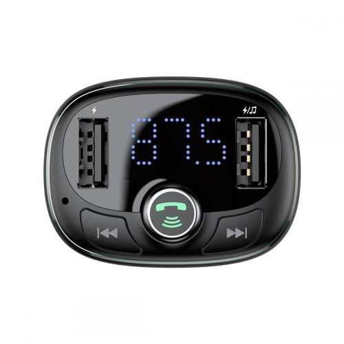 BASEUS TM01 2-PORT USB CAR CHARGER + TRANSMITER FM [czarna]