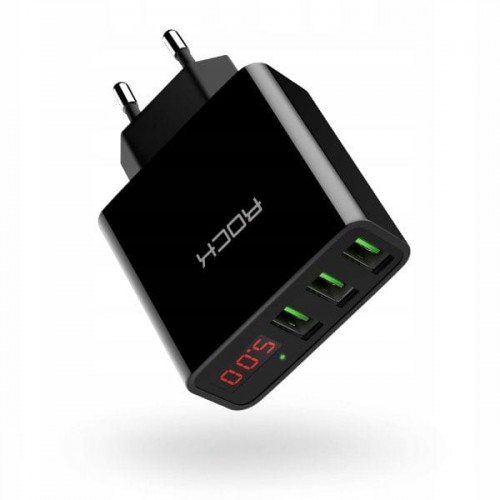ROCK T14 LED 3-PORT NETWORK CHARGER [czarna]