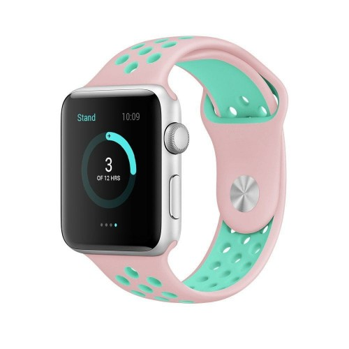 PASEK TECH-PROTECT SOFTBAND APPLE WATCH 1-2-3-4 (42-44MM) PINK-MINT 1.jpg