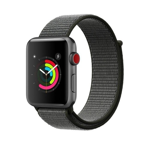 Pasek do Apple Watch 1/2/3/4/5/6/SE (42/44 mm) Tech-Protect Nylon [ciemna oliwka]