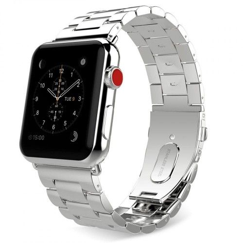 Pasek do Apple Watch 1/2/3/4/5/6 (42/44 mm) Tech-Protect Stainless [srebrny]