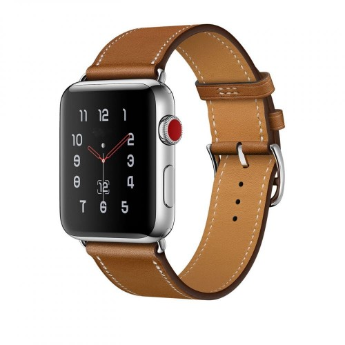 Pasek do Apple Watch 1/2/3/4/5/6/SE (42/44 mm) Tech-Protect Herms [brązowy]