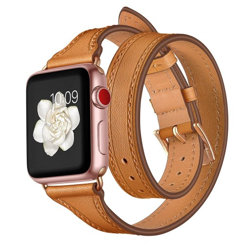 PASEK TECH-PROTECT LONGCHARM APPLE WATCH 1-2-3-4 (38-40MM) BROWN-GOLD 1.jpg