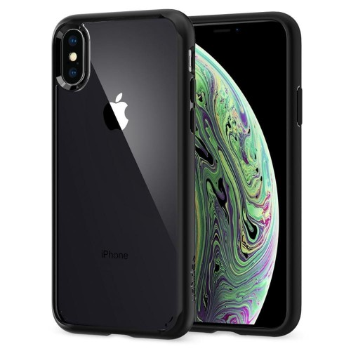 SPIGEN ULTRA HYBRID IPHONE XS MAX MATTE BLACK 1.jpg