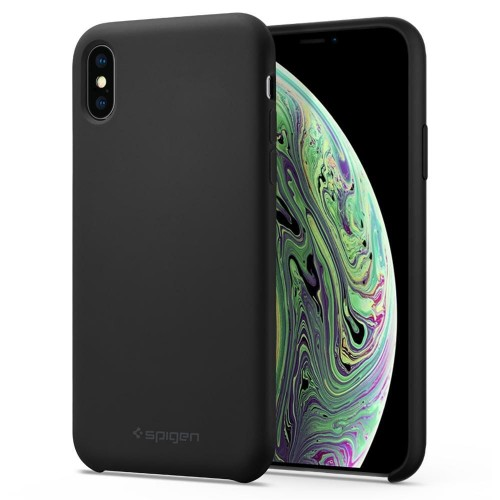 SPIGEN SILICONE FIT IPHONE XS MAX BLACK 1.jpg