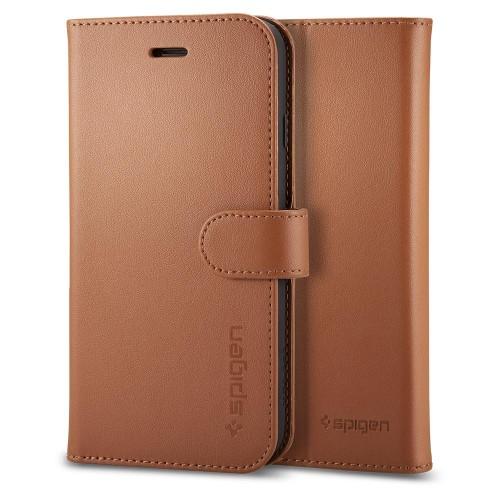 detailed look de38c fda36 Spigen Wallet S [brązowe], Futerał notesowy na iPhone 7/8 (4.7