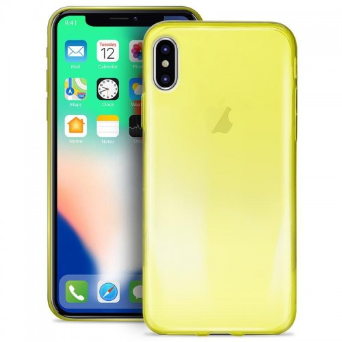 PURO 0.3 NUDE - ETUI IPHONE XS-X (FLUO YELLOW) 1.jpg