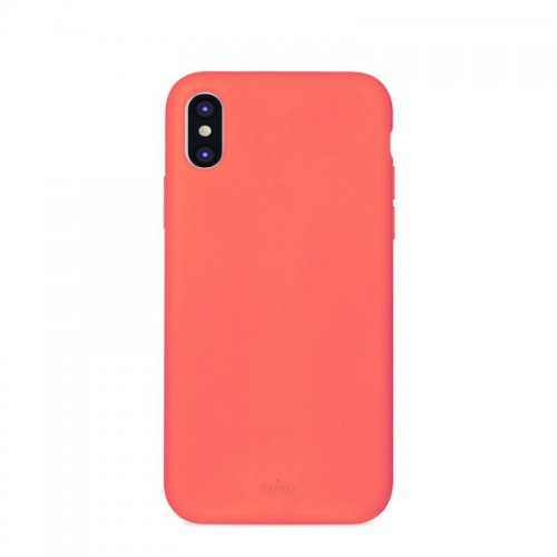 PURO ICON COVER - ETUI IPHONE XS-X (LIVING CORAL) 3.jpg