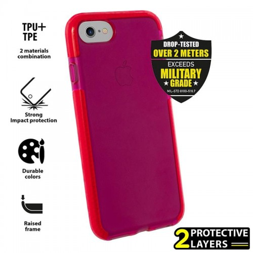 Etui do iPhone 7/8/SE 2020 Puro Impact Pro Flex Shield [czerwony]