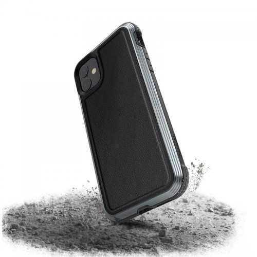 X-DORIA DEFENSE LUX - ETUI ALUMINIOWE IPHONE 11 (BLACK LEATHER) 1.jpg