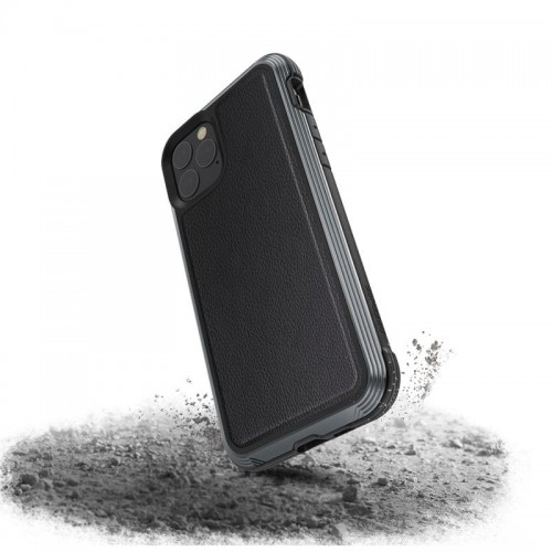 X-DORIA DEFENSE LUX - ETUI ALUMINIOWE IPHONE 11 PRO (BLACK LEATHER) 1.jpg