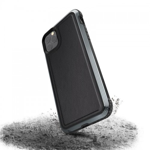 X-DORIA DEFENSE LUX - ETUI ALUMINIOWE IPHONE 11 PRO MAX (BLACK LEATHER) 1.jpg