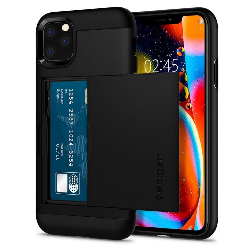 Etui do iPhone 11 Pro Spigen Slim Armor CS [czarny]