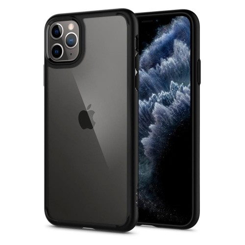 Etui do iPhone 11 Pro Max Spigen Ultra Hybrid [czarny mat]
