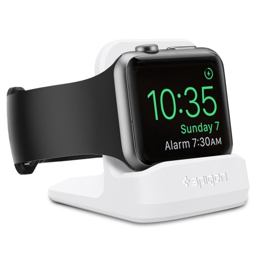 SPIGEN S350 NIGHT STAND APPLE WATCH 1-2-3-4-5 WHITE 1.jpg