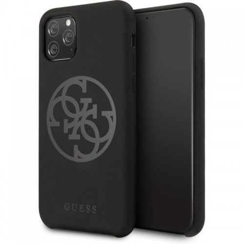 GUESS SILICONE 4G - ETUI IPHONE 11 (BLACK) 1.jpg