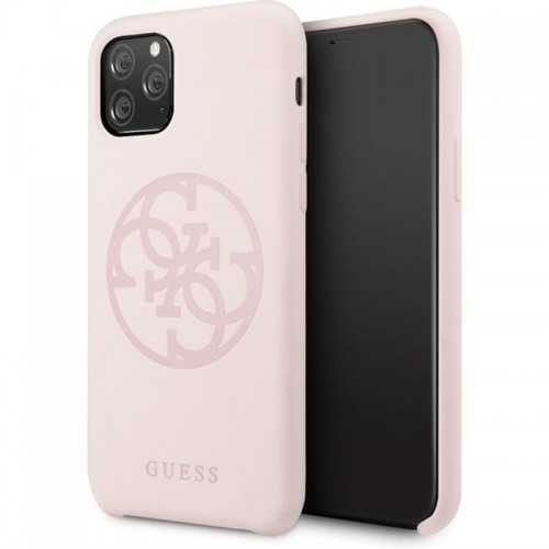 GUESS SILICONE 4G - ETUI IPHONE 11 PRO (LIGHT PINK) 1.jpg