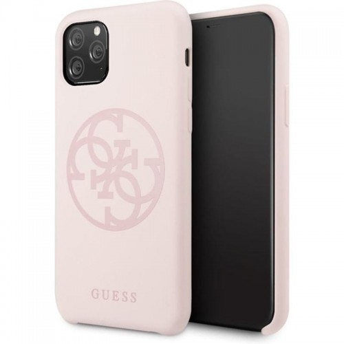 GUESS SILICONE 4G - ETUI IPHONE 11 PRO MAX (LIGHT PINK) 1.jpg