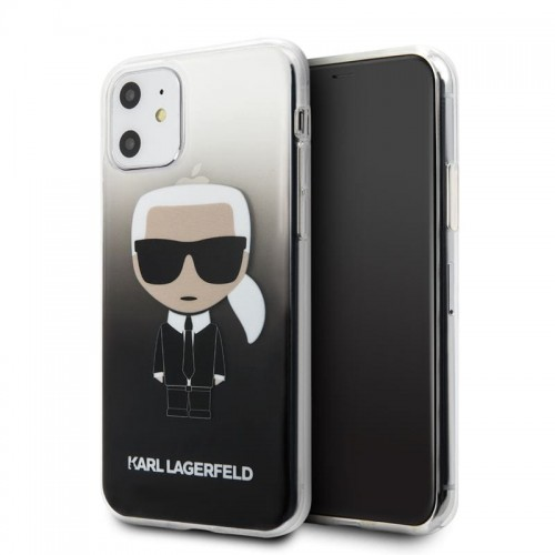 Etui do iPhone 11 Karl Lagerfeld Iconic Karl Gradient [czarny]