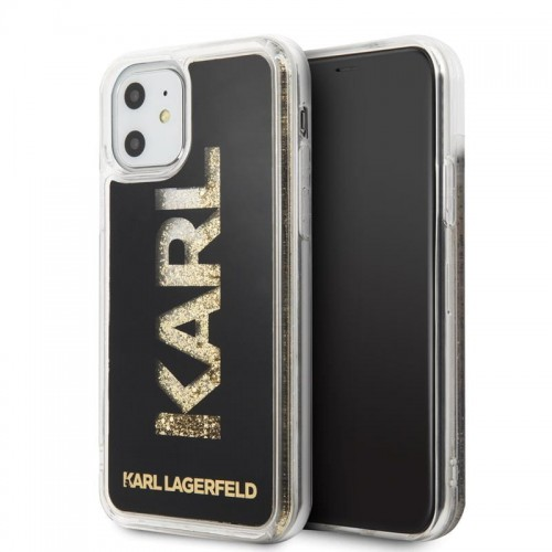 KARL LAGERFELD LOGO KARL LIQUID GLITTER - ETUI IPHONE 11 (BLACK-GOLD GLITTER) 1.jpg