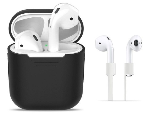 Etui - Case - Futerał do słuchawek Apple AirPods 1/2 - Tech-Protect Iconset [czarne]