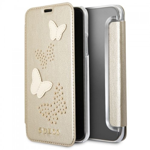 GUESS STUDS & SPARKLES BOOK - ETUI IPHONE X (BEŻOWY) 1.jpg