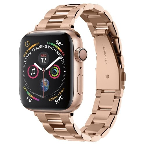 Pasek do Apple Watch 1/2/3/4/5/6/SE (38/40 mm) Spigen Modern Fit Band [różowo złoty]