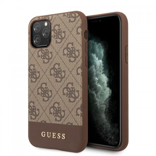 GUESS 4G BOTTOM STRIPE COLLECTION - ETUI IPHONE 11 PRO (BRĄZOWY) 1.jpg