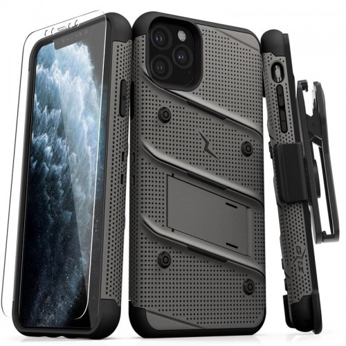 ZIZO BOLT COVER - PANCERNE ETUI IPHONE 11 PRO MAX (METAL GRAY-BLACK) 6.jpg