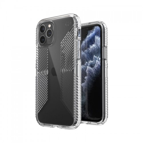Etui do iPhone 11 Pro Speck Presidio Perfect Clear with Grips z powłoką Microban [przejrzysty]