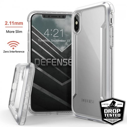 Etui do iPhone X-XS X-Doria Defense Shield [srebny]