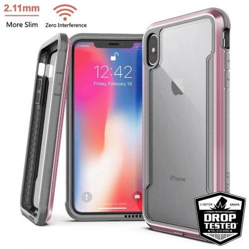 Etui do iPhone XS MAX X-Doria Defense Shield [różowe złoto]
