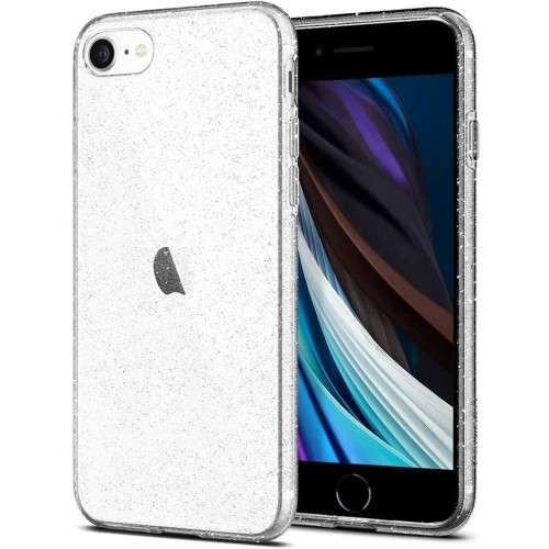 Etui do iPhone 7-8-SE 2020 Spigen Liquid Crystal Glitter [bezbarwne - brokatowe]