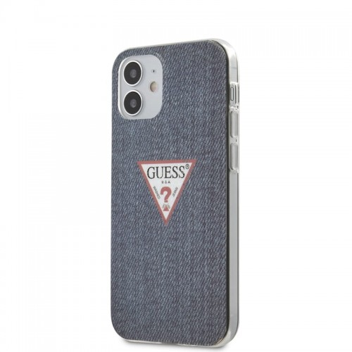 Etui do iPhone 12 Mini Guess Denim Triangle DK [granatowy]