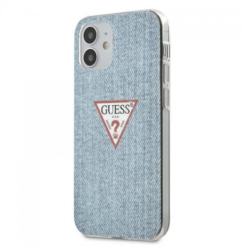Etui do iPhone 12 Mini Guess Denim Triangle DK [niebieski]