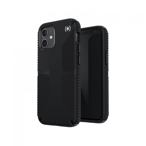 Etui do iPhone 12 Mini Speck Presidio2 Grip z powłoką Microban [czarny]