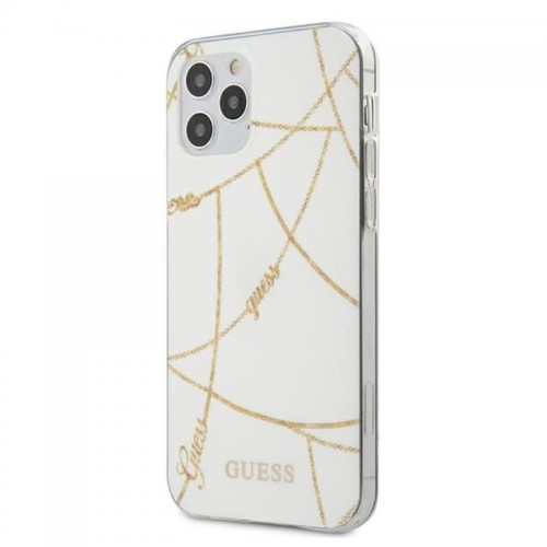Etui do iPhone 12 Pro Max Guess Gold Chain [biały]