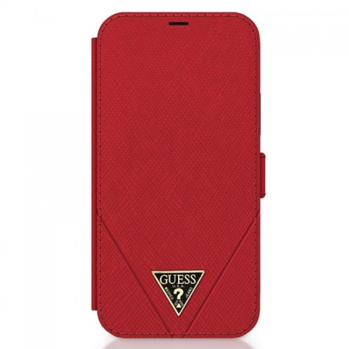 Etui do iPhone 12/12 Pro BookType Guess Saffiano V [czerwony]