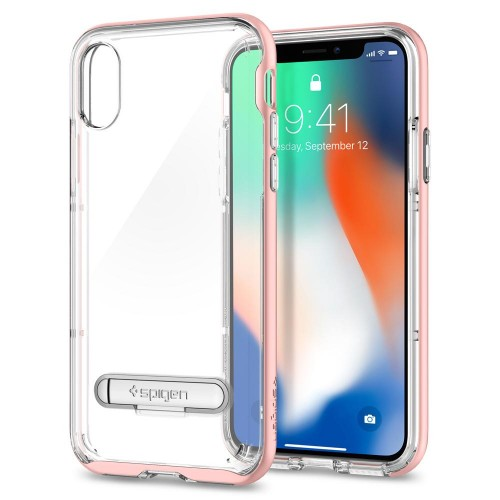 Spigen Crystal Hybrid - Rose Gold - iPhoneX