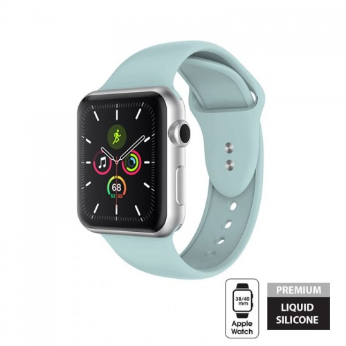 Pasek do Apple Watch 1/2/3/4/5/6/SE (38/40 mm) Crong Liquid Band [miętowy]