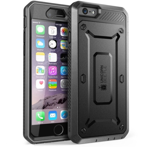 "Etui do iPhone 6/6S (4.7"") Supcase Unicorn Beetle Pro [czarne pancerne]"