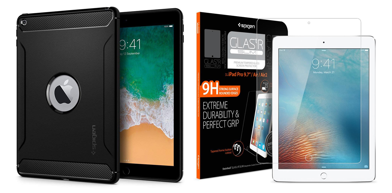 Spigen Rugged Armor & Glass iPad 9.7